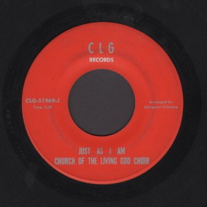 CHURCH OF THE LIVING GOD CHOIR 45