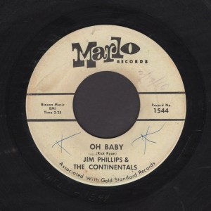 JIM PHILLIPS & THE CONTINENTALS 45