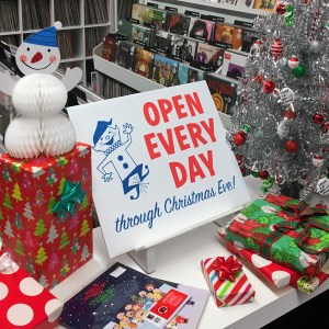 OPEN TODAY 'til 6pm and OPEN EVERY DAY through Christmas Eve!