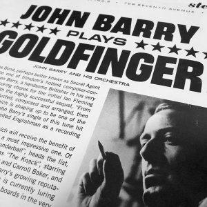 John Barry composer Goldfingervinyl