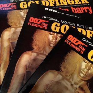 John Barry composer Goldfinger vintage vinyl records