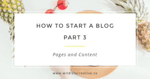 How to Start a Blog Facebook