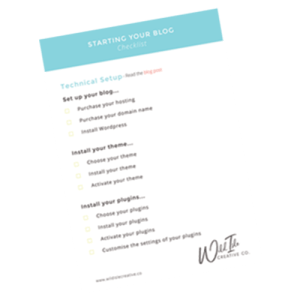 Start a Blog Checklist Graphic