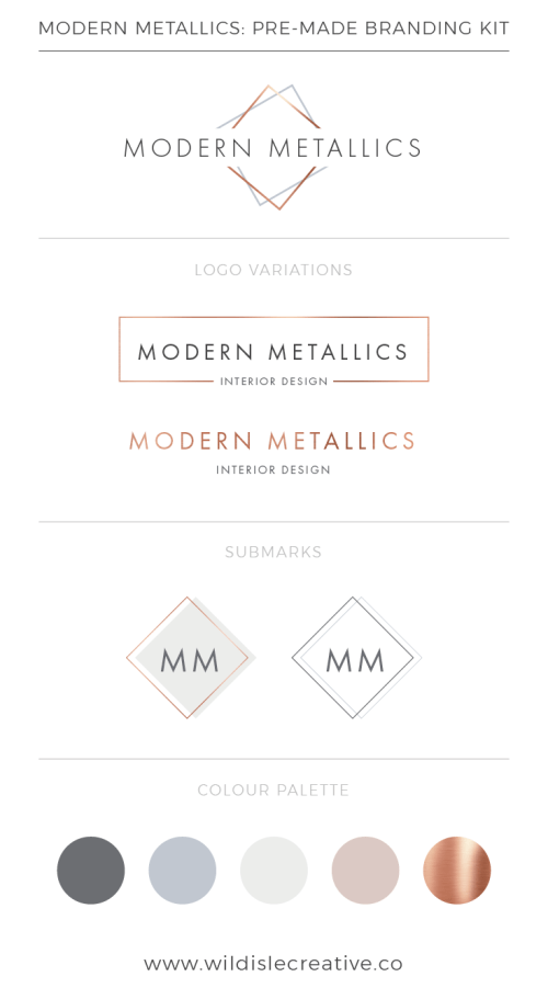 Modern Metallics - Brand Design Kit