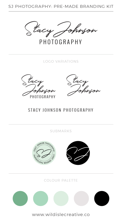 SJ Photography - Brand Design Kit