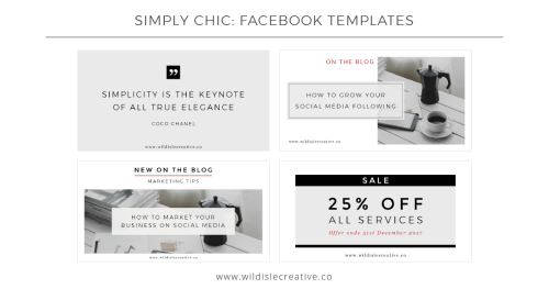 Simply Chic - Facebook Templates
