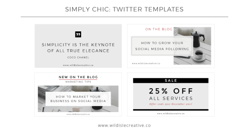 Simply Chic - Twitter Templates