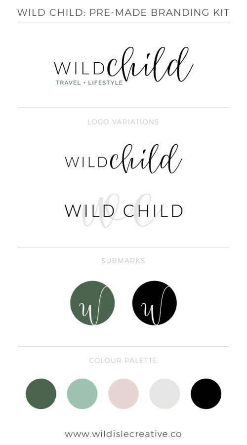 Wild Child - Brand Design Kit