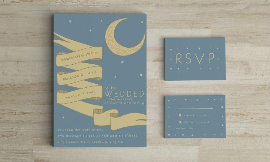 Wedding Invitations by Wild Joy Studios