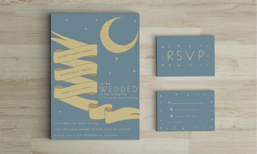 Wedding Invitations by Wild Joy Studios
