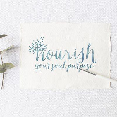 Logo design for Nourish Your Soul Purpose