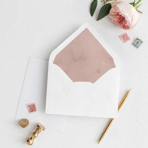 Bespoke envelope liner, custom wedding stationery