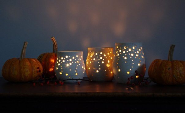 Star lit candle holders made by NaomiAnita on Etsy
