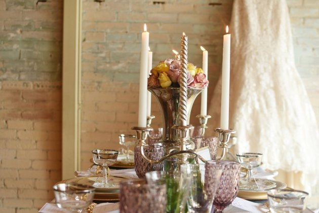Pretty eclectic china perfect for a boho wedding