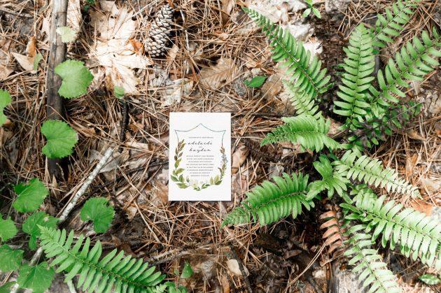 Floral Crest Invite - Forest Stationery Mockup 6