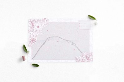 Folded Map Mockups - Pink Paris 2