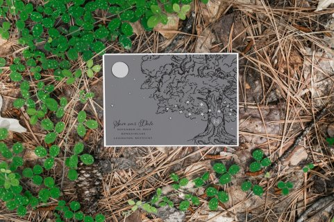 save the date - Forest Stationery Mockup 22