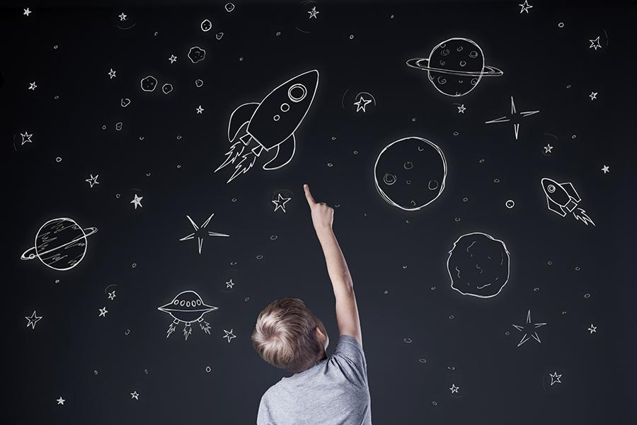 Observar las estrellas con niños