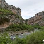 El río Irati a su paso por la Foz de Lumbier