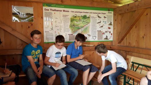 Schul-Projekt im Thalhamer Moos