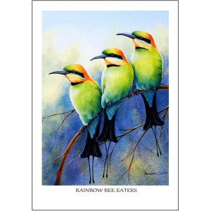 Rainbow Bee-eaters Greeting Card