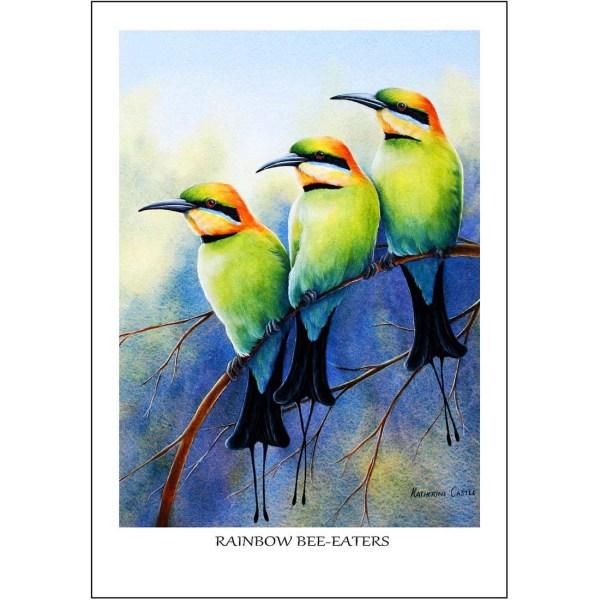 Rainbow Bee-eaters Greeting Card