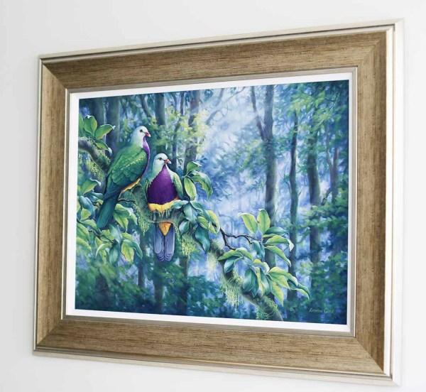 Wompoo Fruit Doves framed