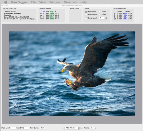 RawDigger Lightroom   Neutralise Hidden Exposure Compensation