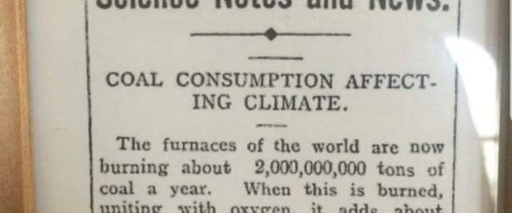 1896: On the Influence of [Carbon Dioxide] in the Air upon the Temperature of the Ground