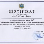 World Indonesianist Forum 2018