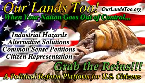our lands too button