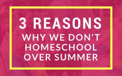 3 Reasons Why We Don't Homeschool Over Summer