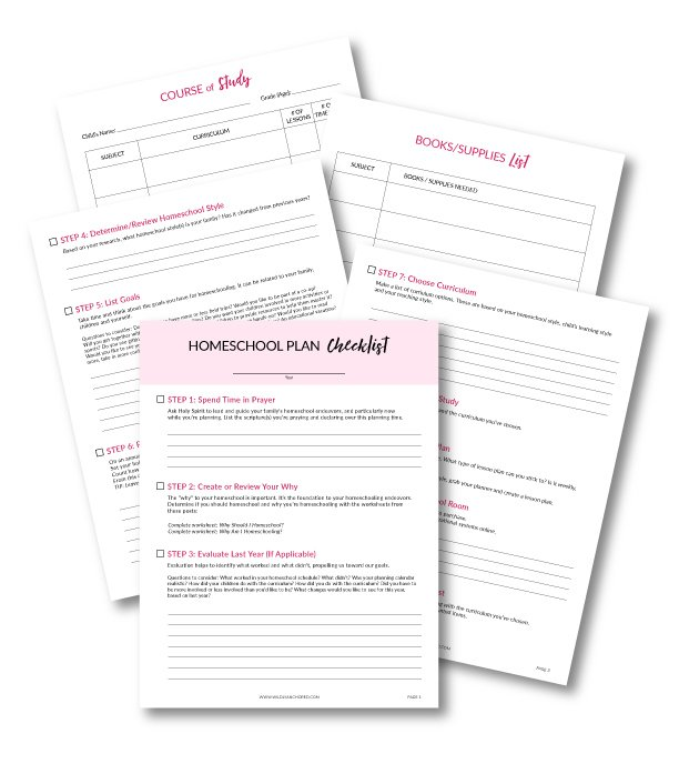 Plan your homeschool year in 11 simple steps with this FREE Printable Checklist & Worksheets