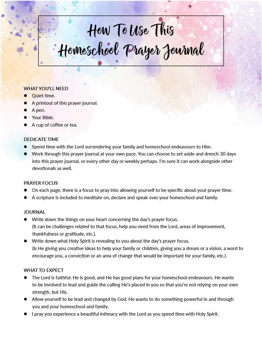 photograph about Printable Prayer Journal called My Homeschool Prayer Magazine (Printable)