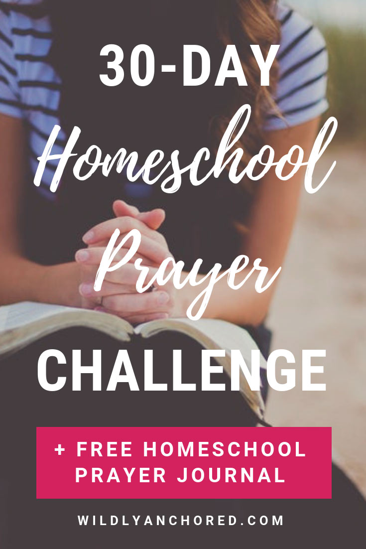 """You can change the direction and atmosphere of your homeschool with prayer. Join my 30-Day Homeschool Prayer Challenge and receive 'My Homeschool Prayer Journal"""" FREE!"""