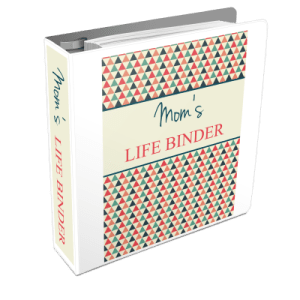 Mom's Life Binder includes over 75 printable forms/pages to take control over your schedule, household, finances and personal life.