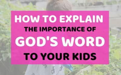 How To Explain The Importance Of God's Word To Your Kids