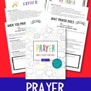 Teach your kids why prayer is important with this Prayer Bible Study for Kids!