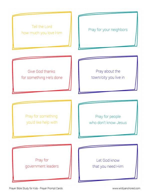 Prayer Bible Study for Kids
