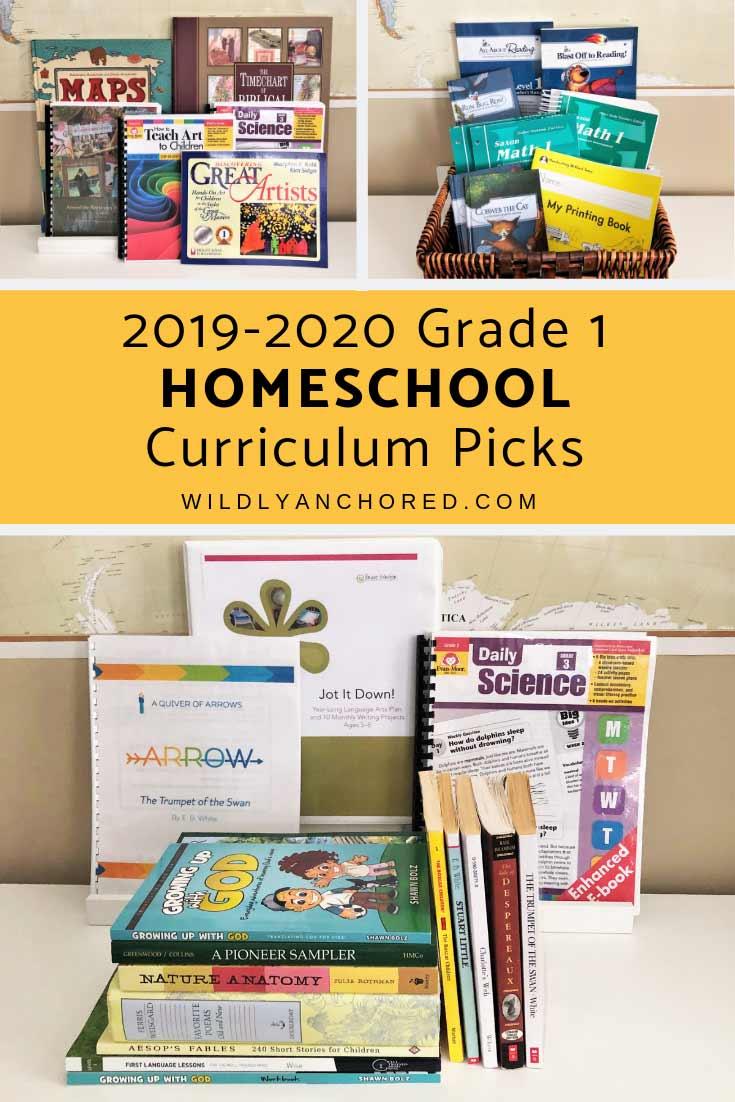 2019-2020 Grade 1 Homeschool Curriculum Picks