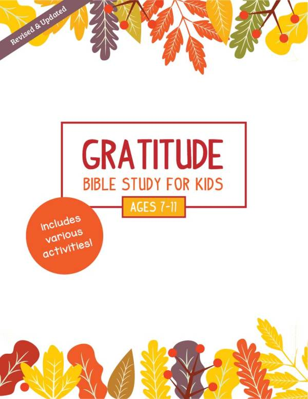 Gratitude Bible Study For Kids