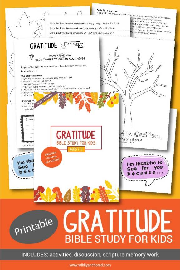 Gratitude Bible Study For Kids - Revised & Updated