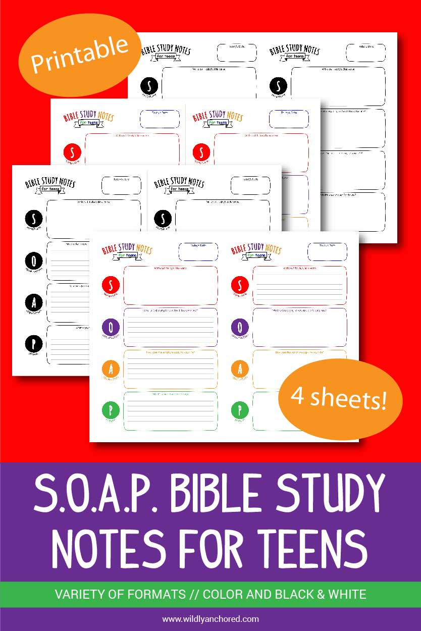 Help your kids get into the Word of God with these printable S.O.A.P. Bible Study Notes