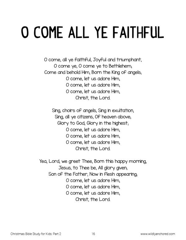 O Come All Ye Faithful: Christ-Centered Christmas Bible Study For Kids