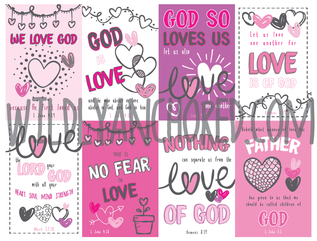 Have your kids share God's love with these Christian Valentine's Day Cards. Super cute design, easy to download and print!