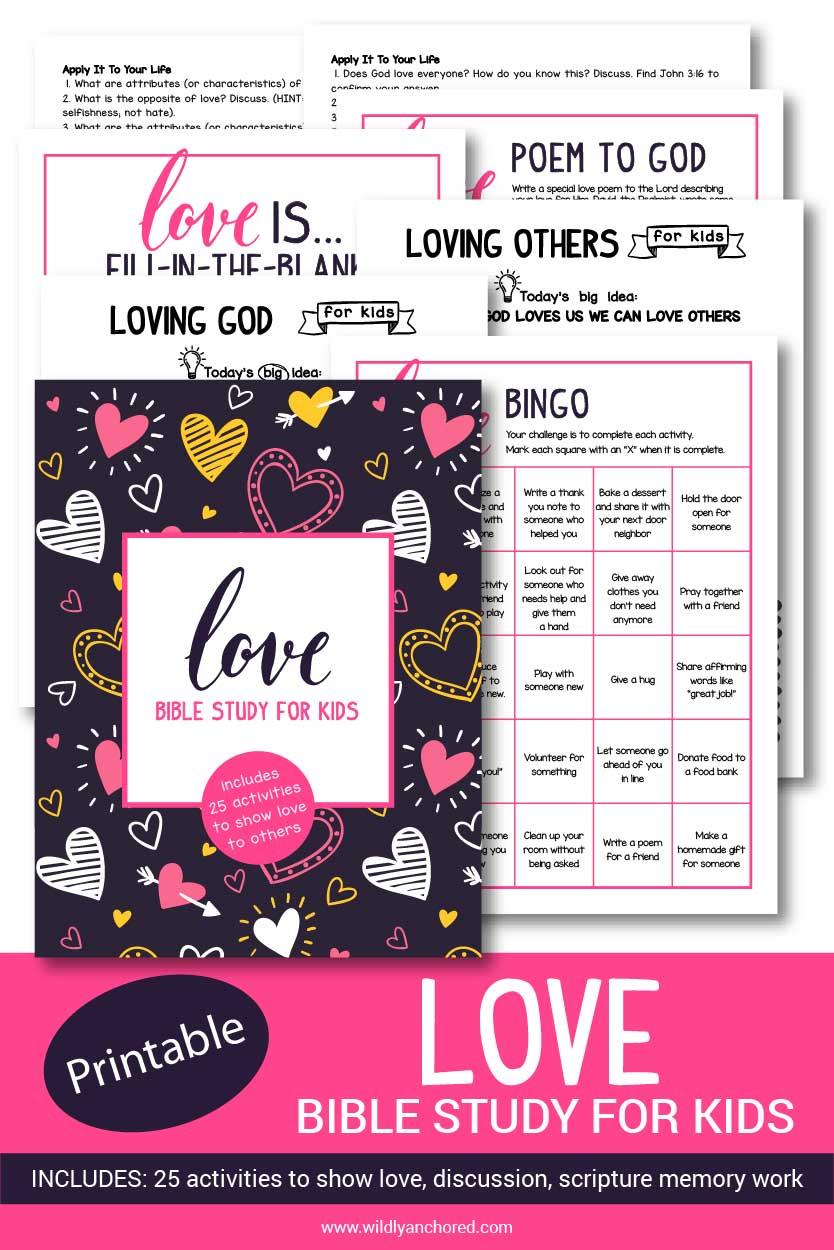 Love Bible Study for Kids Printable