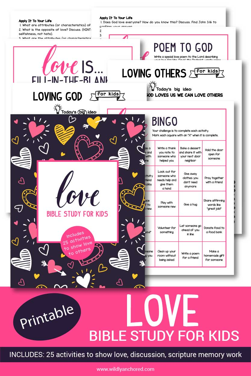 Help your kids discover what it means to love God and love others with this Bible study. Includes Bible reading, scripture writing and memorization, activities and more!