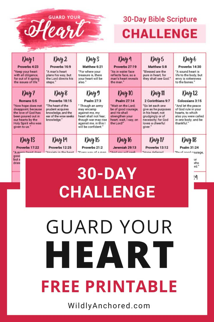 What we put into our heart comes out. It's the production centre of our lives, which is why guarding your heart is so important.  + FREE 30-Day Guard Your Heart Scripture Challenge