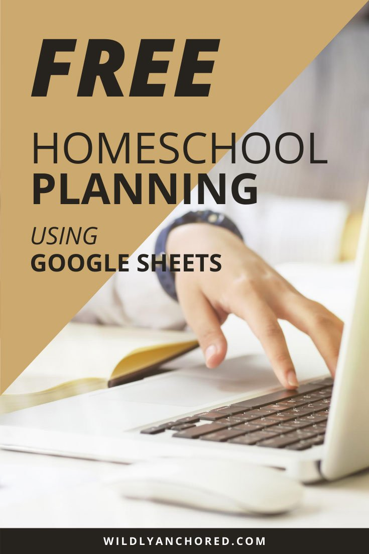 Let's plan our homeschool together! Join me for FREE homeschool planning using Google Sheets!