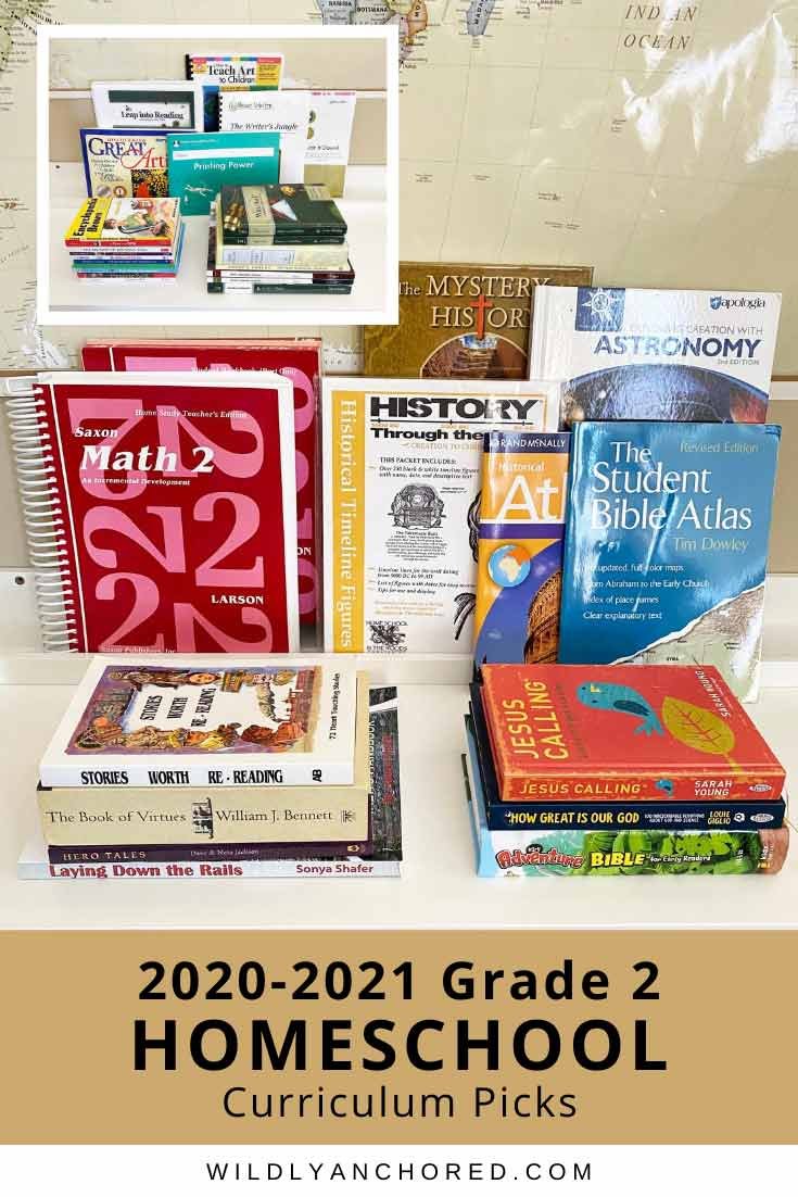 Check out our 2020-2021 grade 2 homeschool curriculum picks! We'll be doing All About Reading, Brave Writer, Mystery of History, Saxon Math and more!